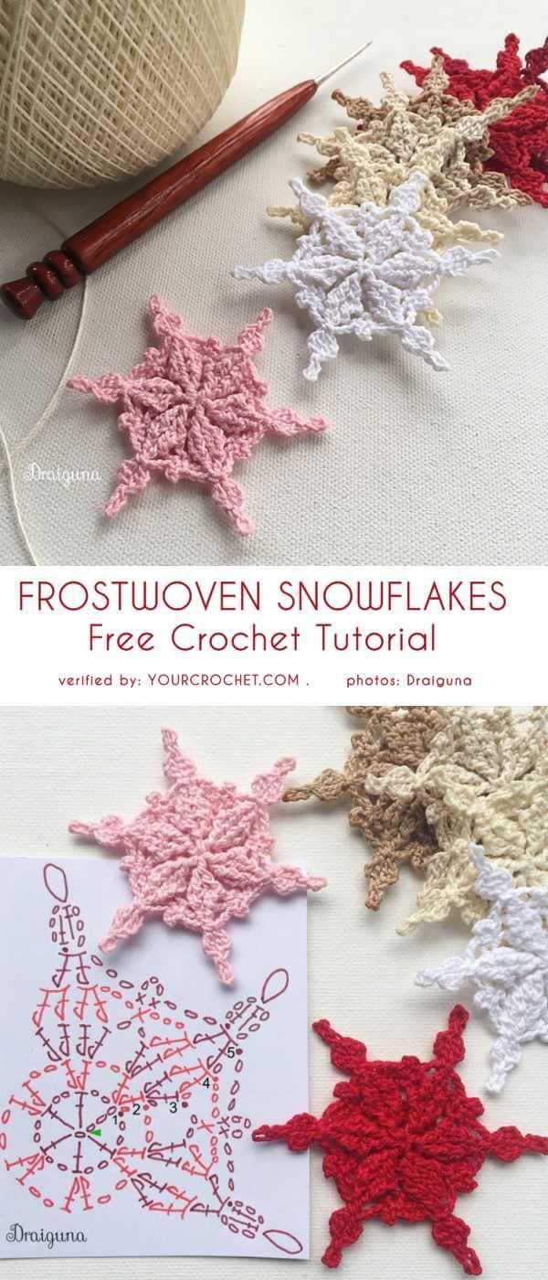 Frostwoven Snowflakes Free Crochet Pattern #crochettutorial