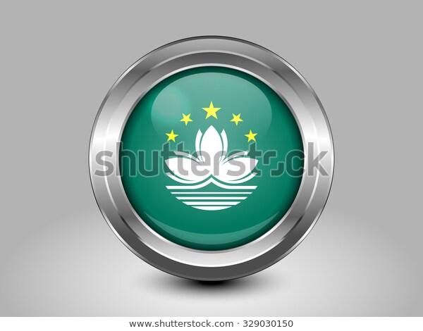 China Flag Macau Metal Round Icons Stock Vector Royalty Free 329030150 Nel 2020