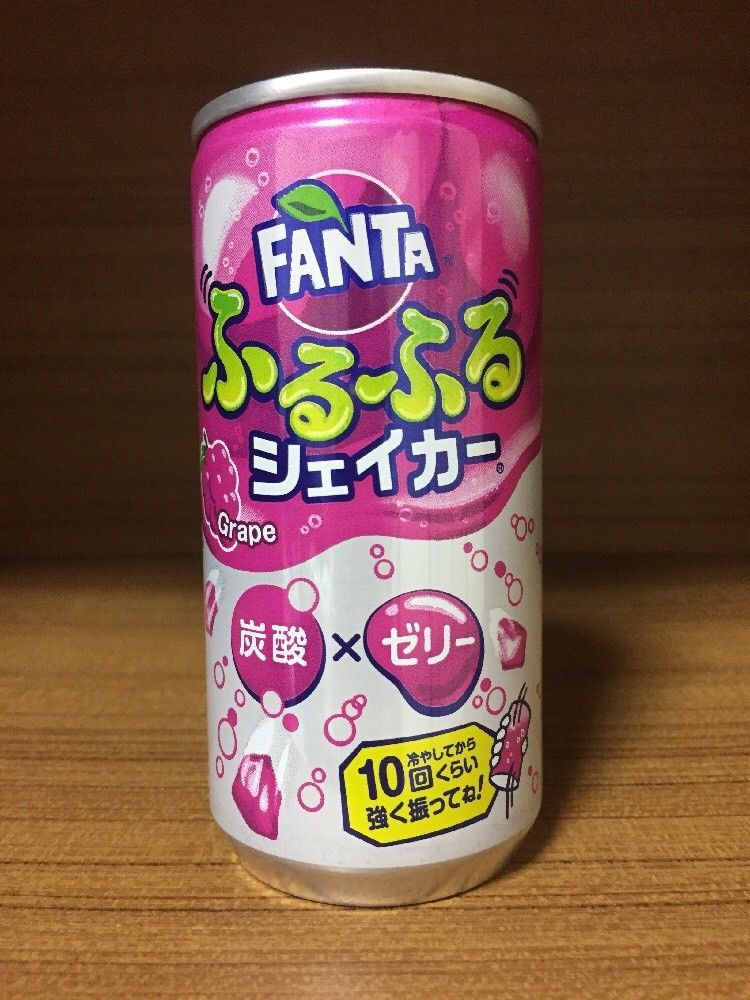 Coca Cola Japan Fanta Furufuru Shaker Flavor Grape Can 180ml
