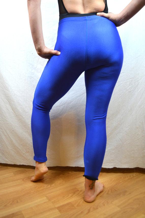58596d1c4 Vintage 90s Purple Blue In Sport Spandex Workout Leggings