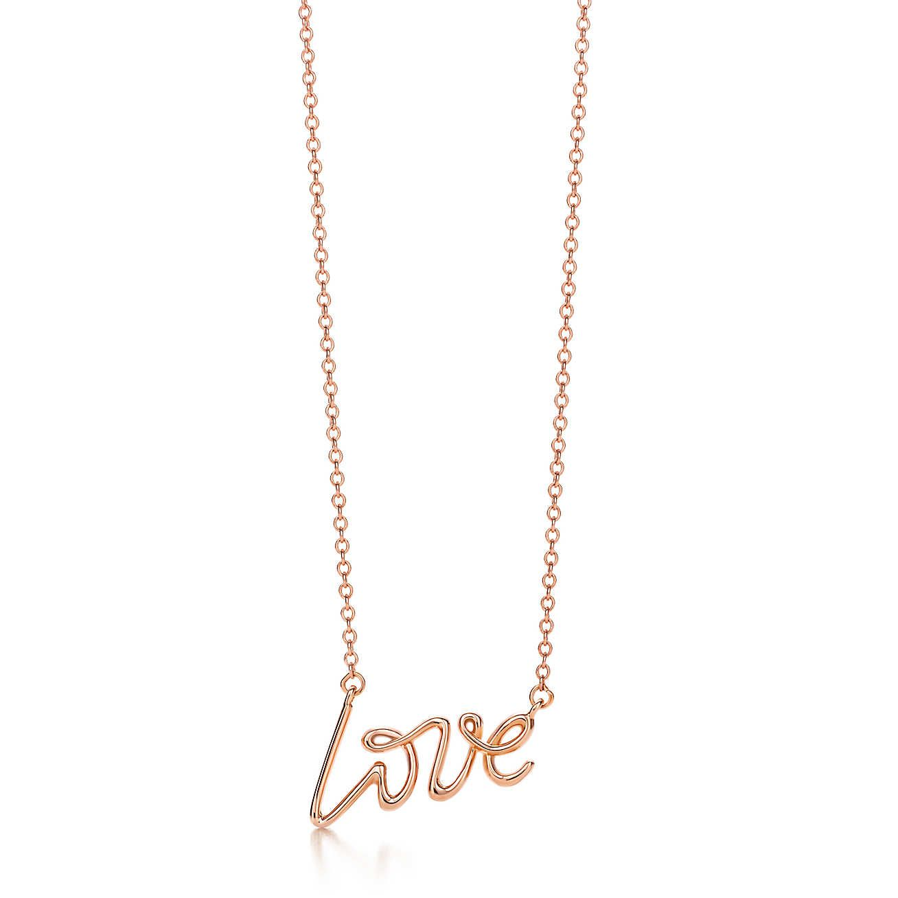 Palomas graffiti love pendant bling paloma picasso love pendant part of her famous graffiti collection this design features paloma picassos own handwriting pendant in rose gold aloadofball Image collections