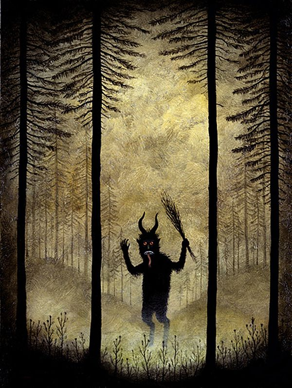 Even though these paintings by Andy Kehoe feature a ton of otherworldly monsters, they still somehow have a very friendly feeling.