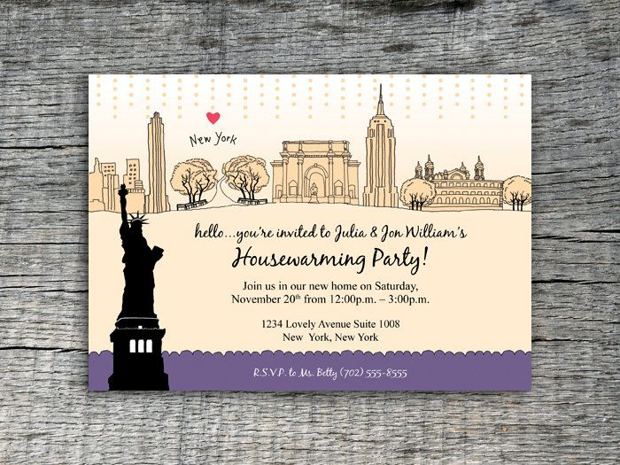 I Love New York Invitation Party Design DIY Printables 2000