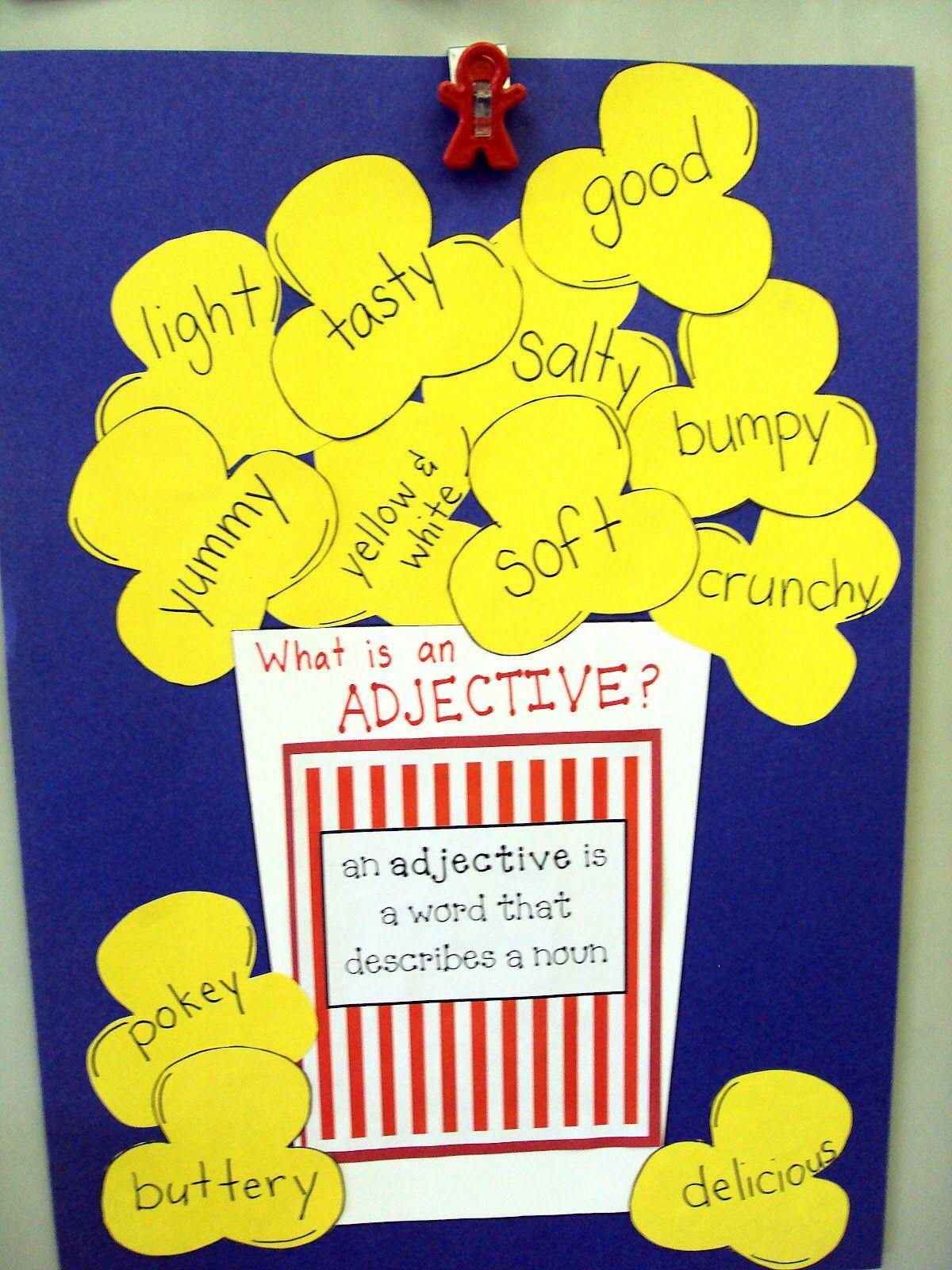 Popcorn Adjectives So Cute Adjectives Adjectives Activities 3rd Grade Writing [ 1600 x 1200 Pixel ]