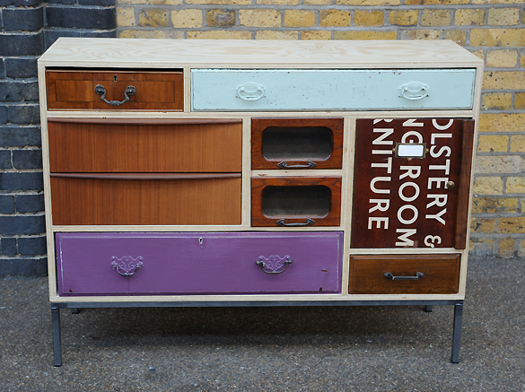 Upcycled Dressers Painted Wallpapered Decoupaged Homemade