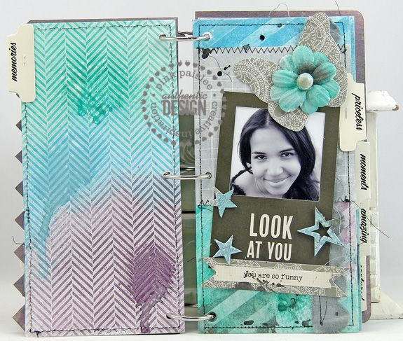 Material Mix: Mixed Media Album | Pink Paislee
