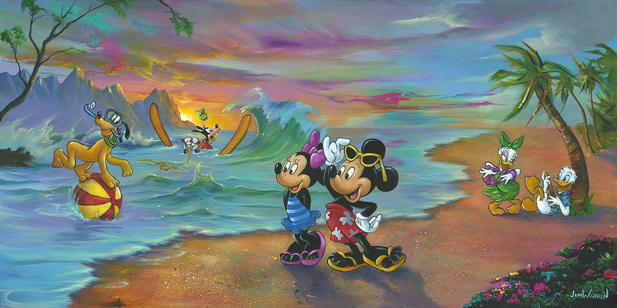 Mickey and Minnie Forever Love Jim Warren LE 500 Disney Silver Series NEW Mouse
