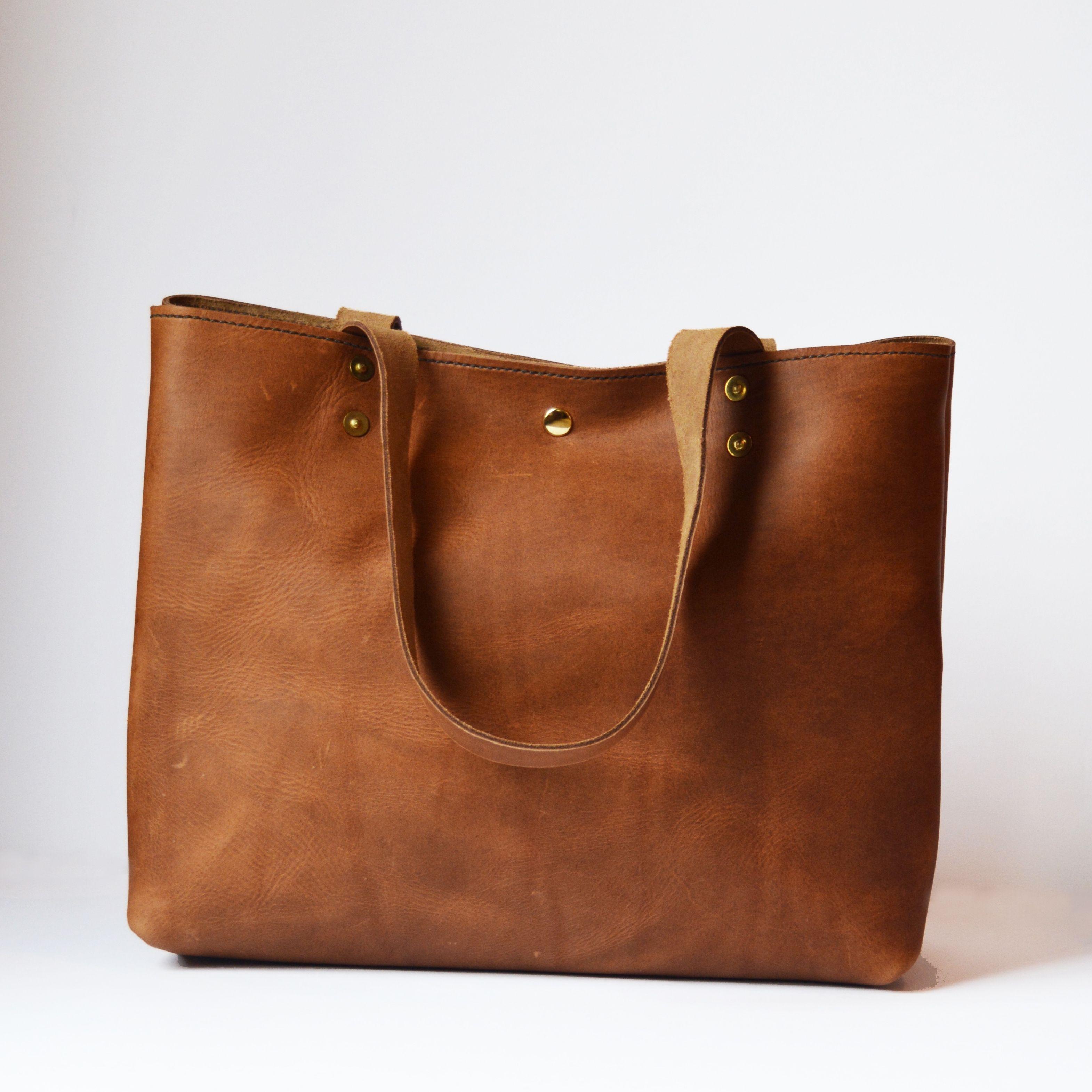 Leather Tote in Cognac a47d89d6c00d2