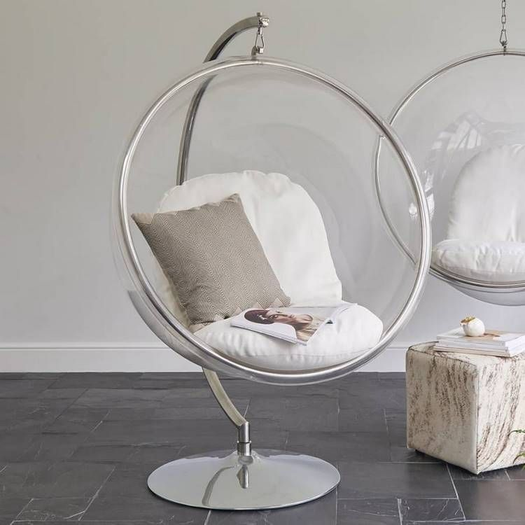 See Through Hanging Bubble Chair Original Furniture Ideas For Any Room In 2020 Bubble Chair Hanging Chair Hanging Swing Chair