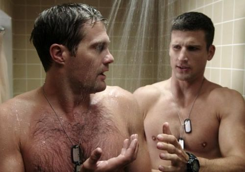 Gay scene shower young