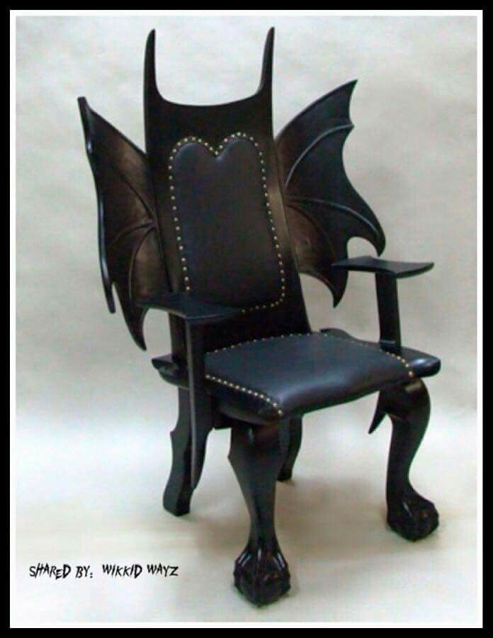 I Like The Wings Though The Top Spikes Look Strange Gothic Furniture Luxury Furniture