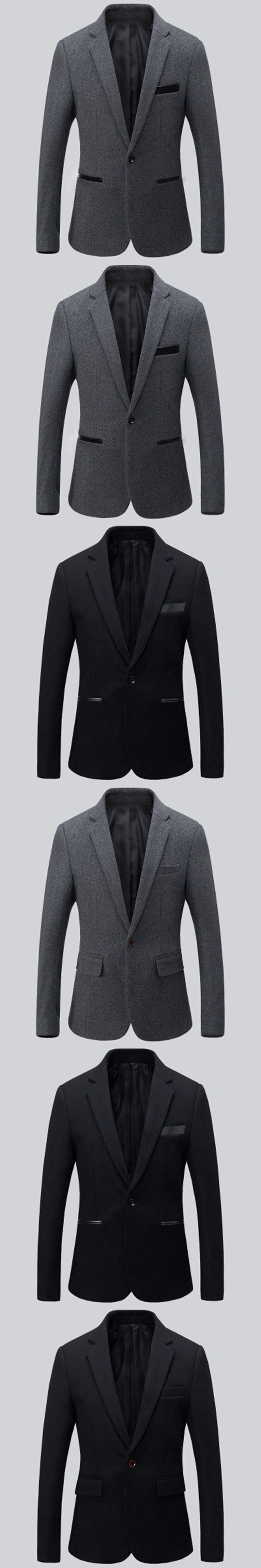 New arrival men suits jacket wool blended balck and grey wedding