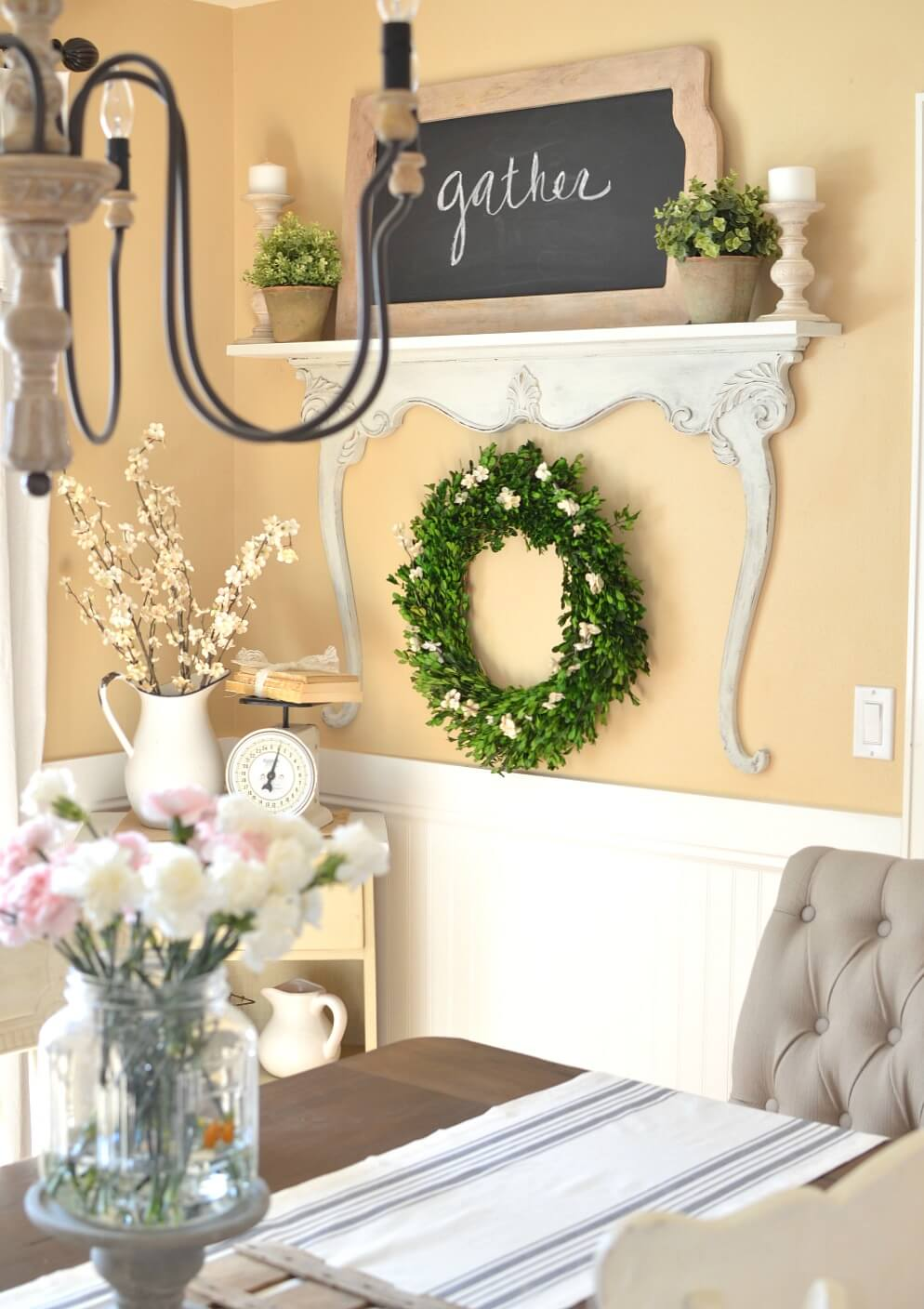 Top 29 Diy Ideas Adding Rustic Farmhouse Feels To Kitchen: 35+ Rustic Farmhouse Spring Decor Ideas To Add A Unique Touch To Your Home This Season In 2020