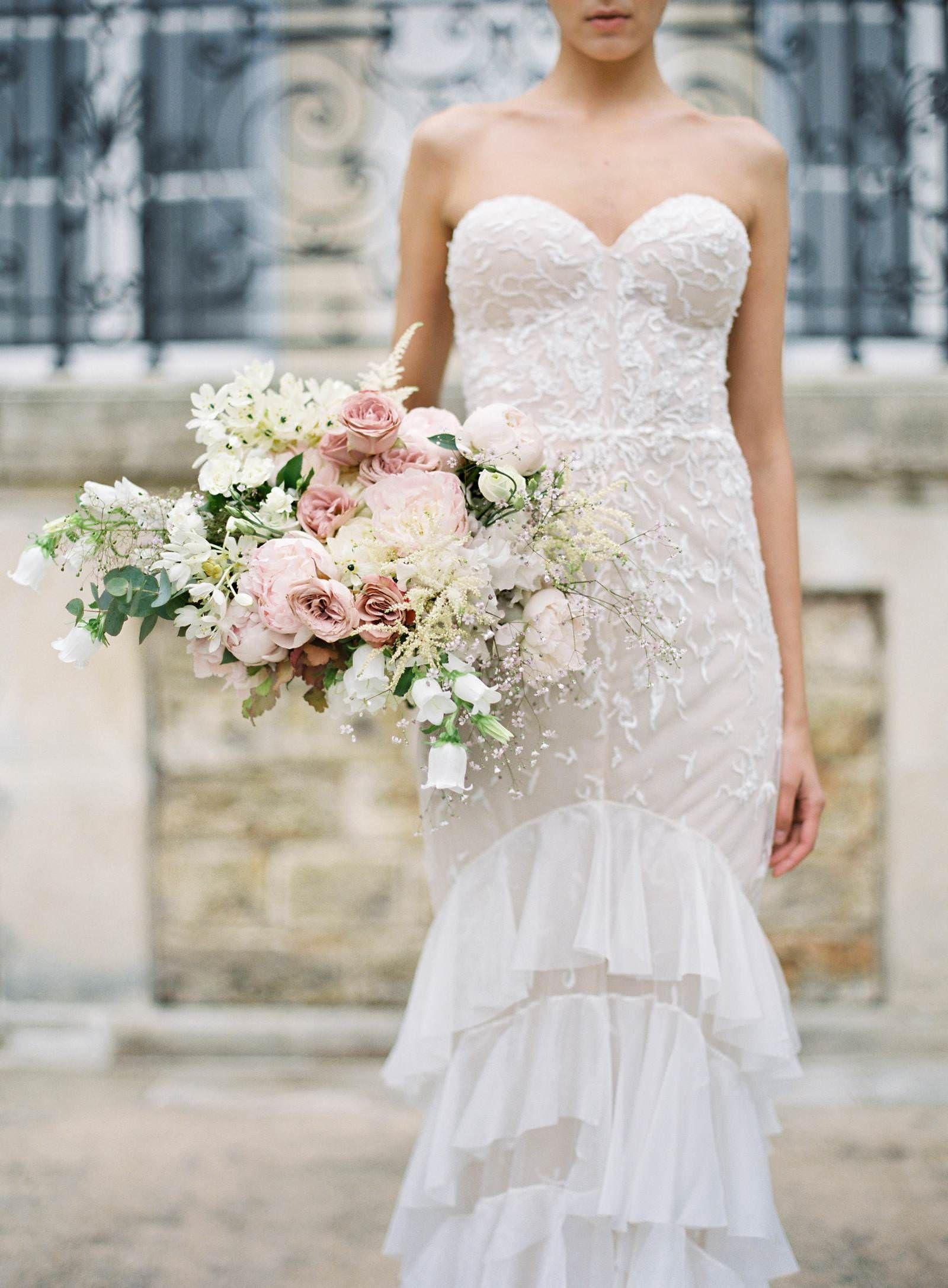 Hemingway Bridal Bouquet Paris Wedding Florist Lush Blush Bridal