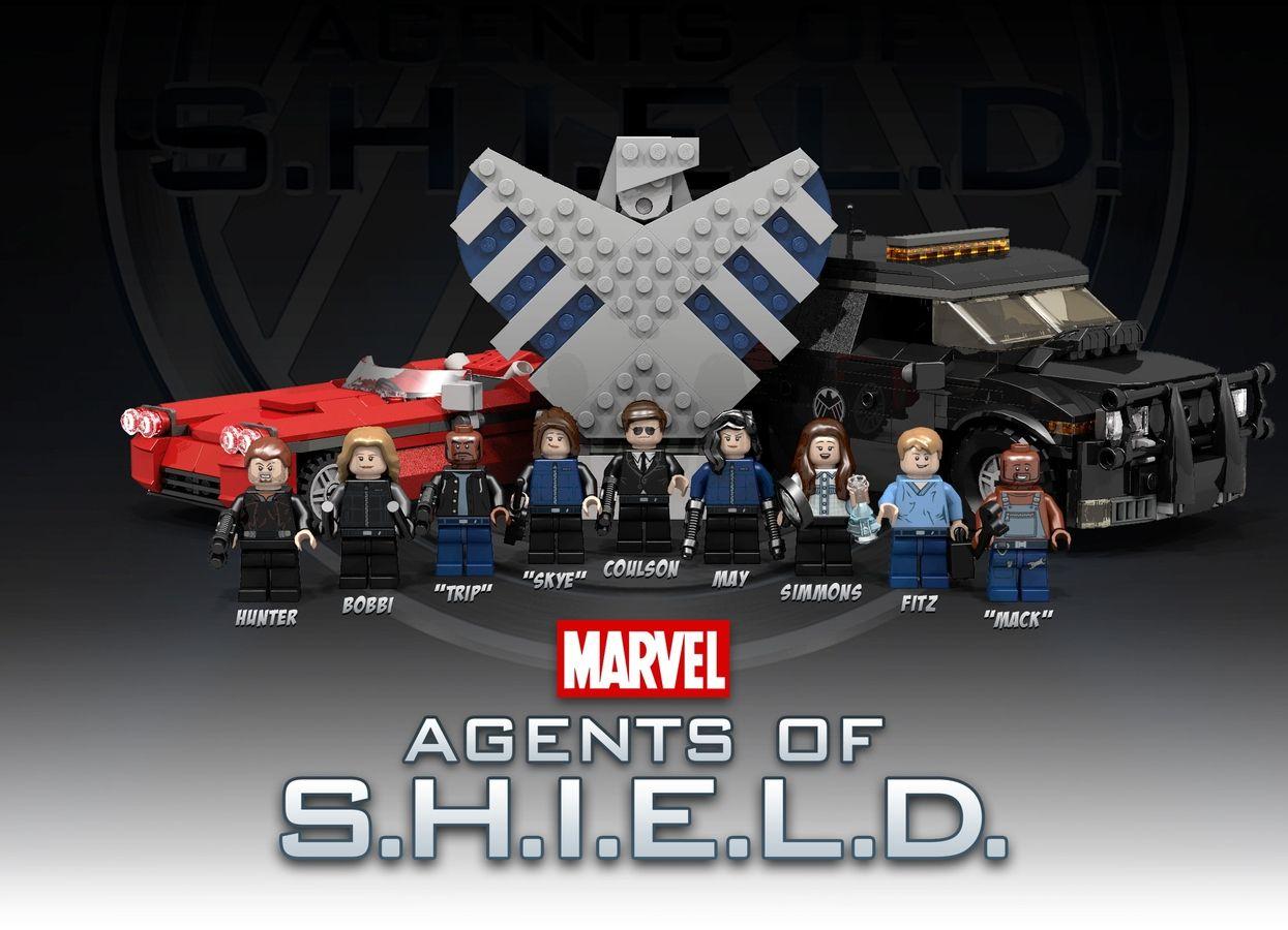 AGENT DAISY JOHNSON Custom Printed /& Inspired Lego Marvel Agents Minifigure