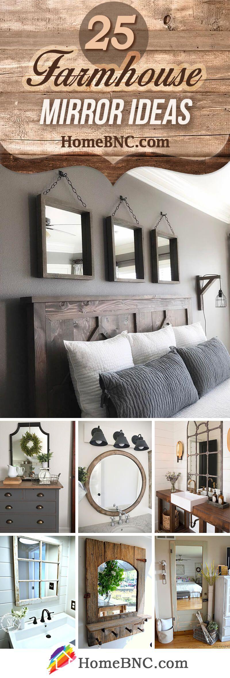 25 Best Farmhouse Master Bedroom Decor Ideas: 25 Pretty Farmhouse Mirror Ideas To Add Rustic Beauty To
