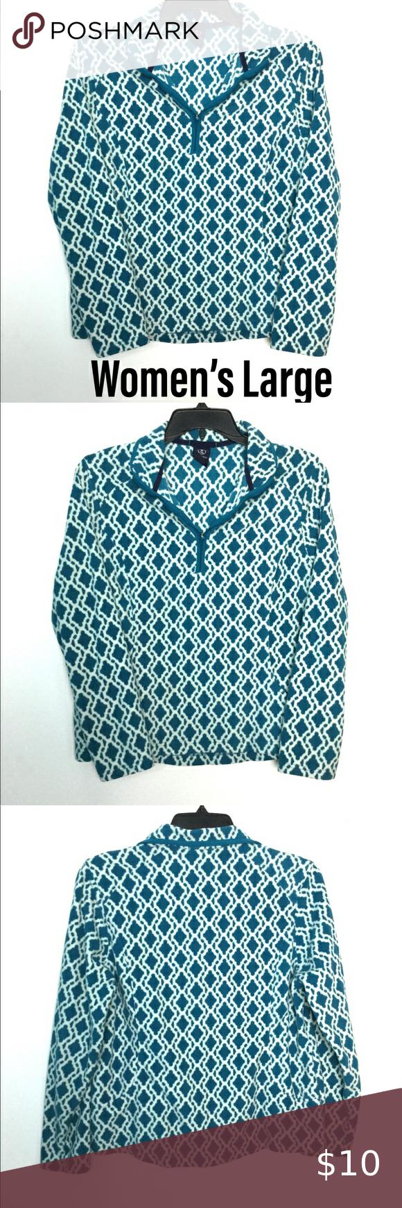 Lands End L 1 4 Zip Pullover Fleece Sweatshirt Euc Sweatshirt Fleece Sweatshirts Quarter Zip Sweatshirt [ 1740 x 580 Pixel ]