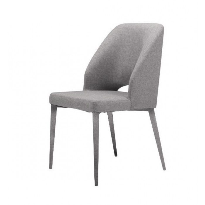 Modrest Fisher Modern Grey Fabric Dining Chair Set Of 2