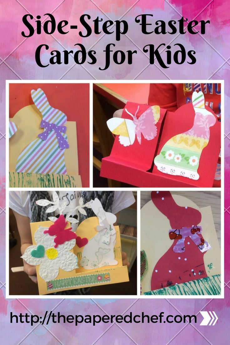 Side Step Easter Cards For Kids Bigz Die Bunny Cards Craft Club