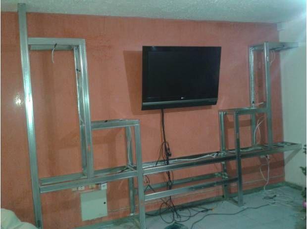 Como hacer muebles de tablaroca para tv for Fabricar muebles