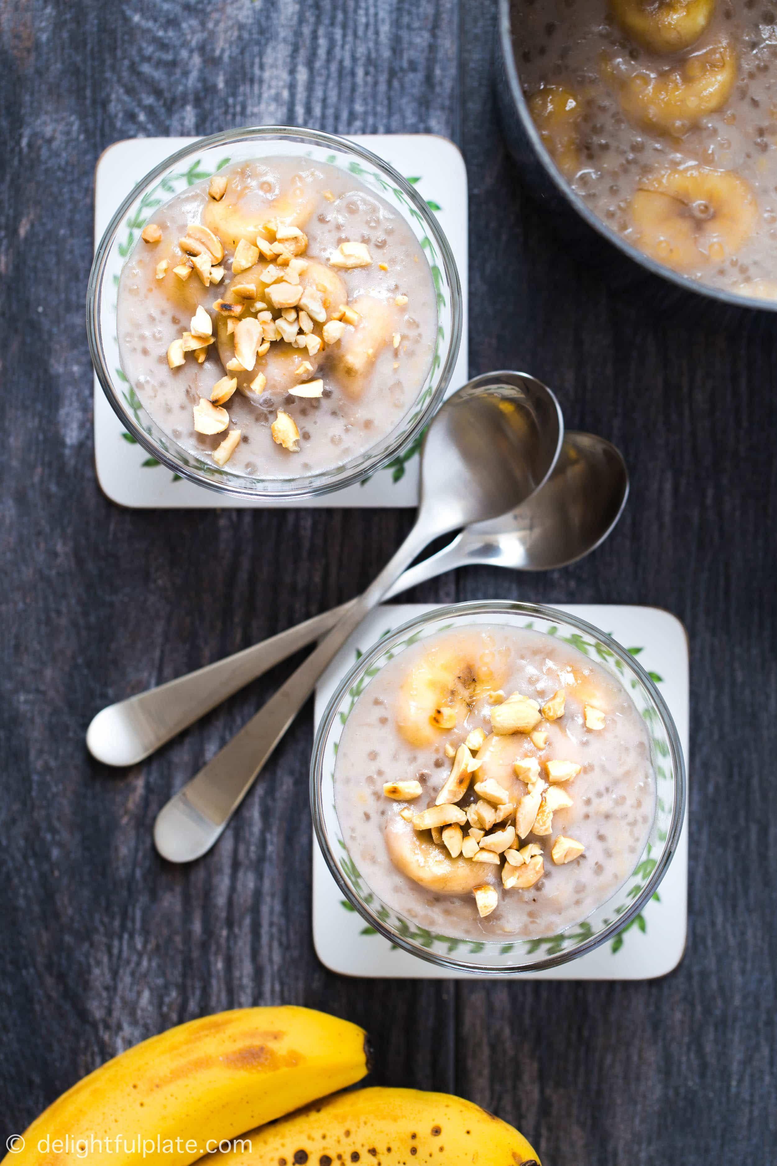 Banana Tapioca Pudding Che Chuoi Delightful Plate Recipe Tapioca Pudding Vietnamese Dessert Vegetarian Recipes