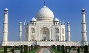Groupon - Tour of India with Airfare, 4-Star Hotels, and Tour Guide from Gate 1 Travel. Price/person Based on Double Occupancy.  in Jaipur, New Delhi, and Agra. Groupon deal price: $1,499
