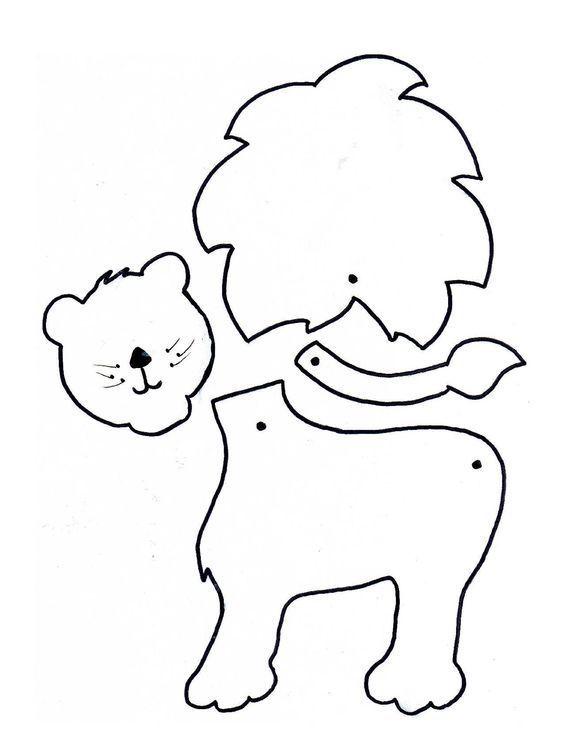 kesme yapıştırma etkinlikleri (4) | kukla | Pinterest | Animales de ...