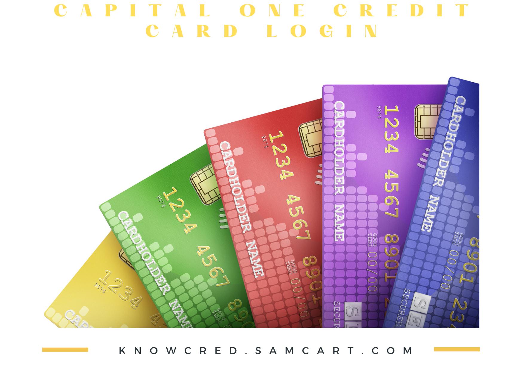 Capital One Credit Card Login Capital One Credit Card Discover Card Discover Credit Card