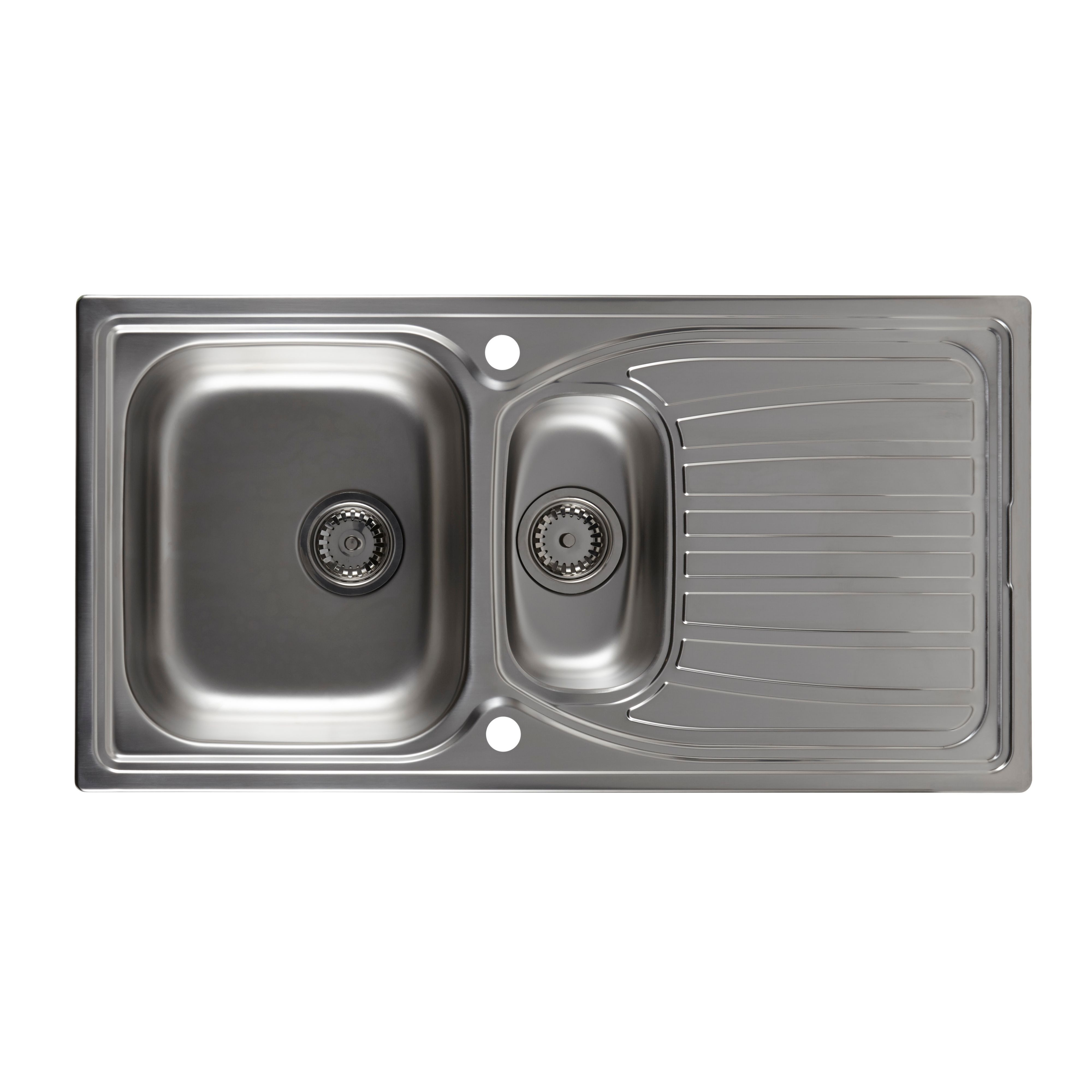 Astracast Alto 1.5 Bowl Stainless Steel Sink & Drainer | Departments ...