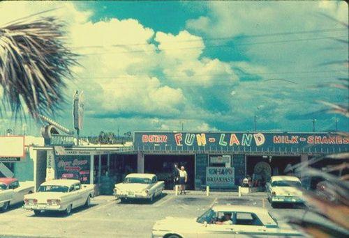 Fun Land Arcade Panama City Beach Florida Circa 1960 By Stevesobczuk