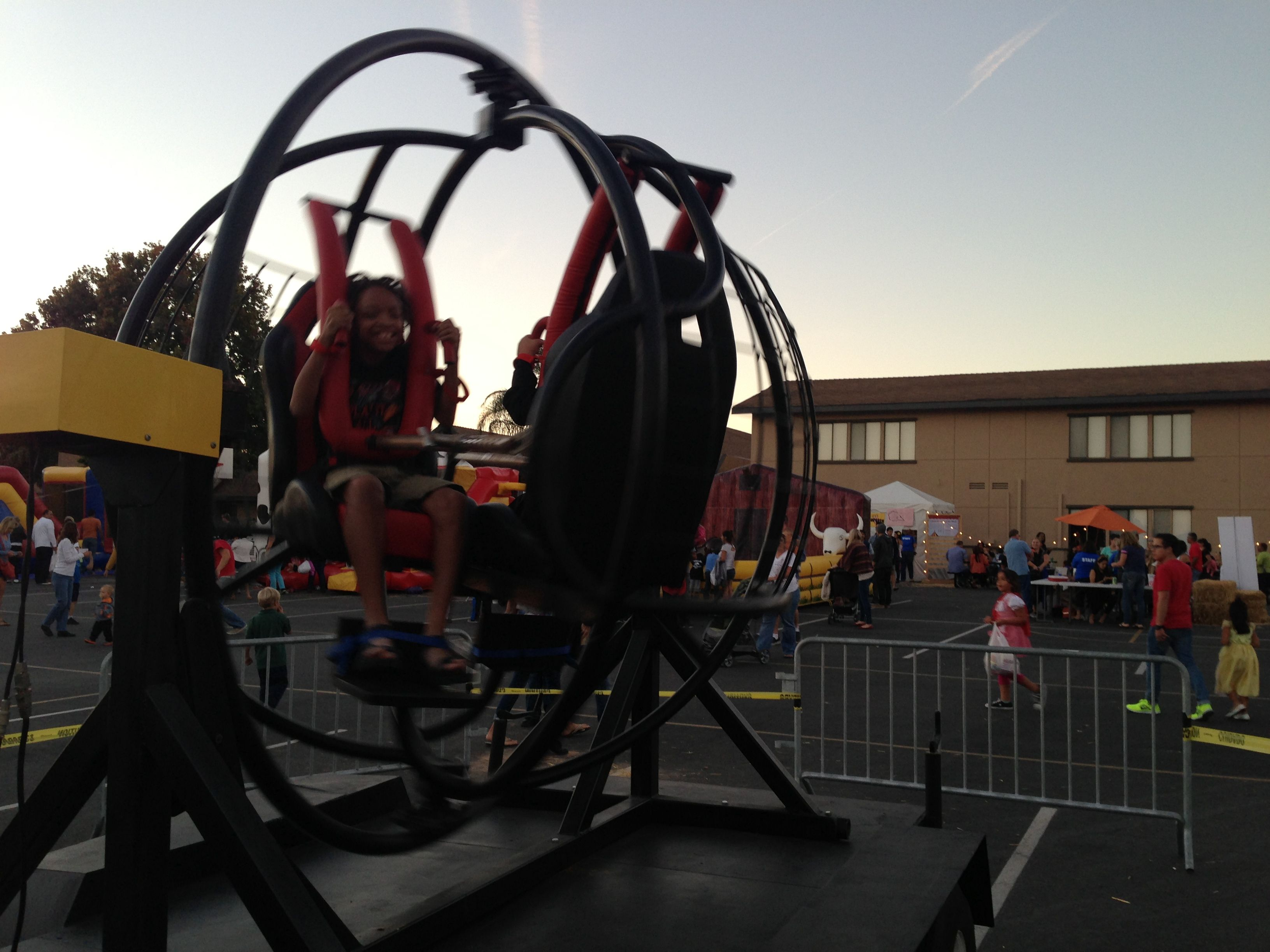 Human gyroscope ride rental available in so cal a unique