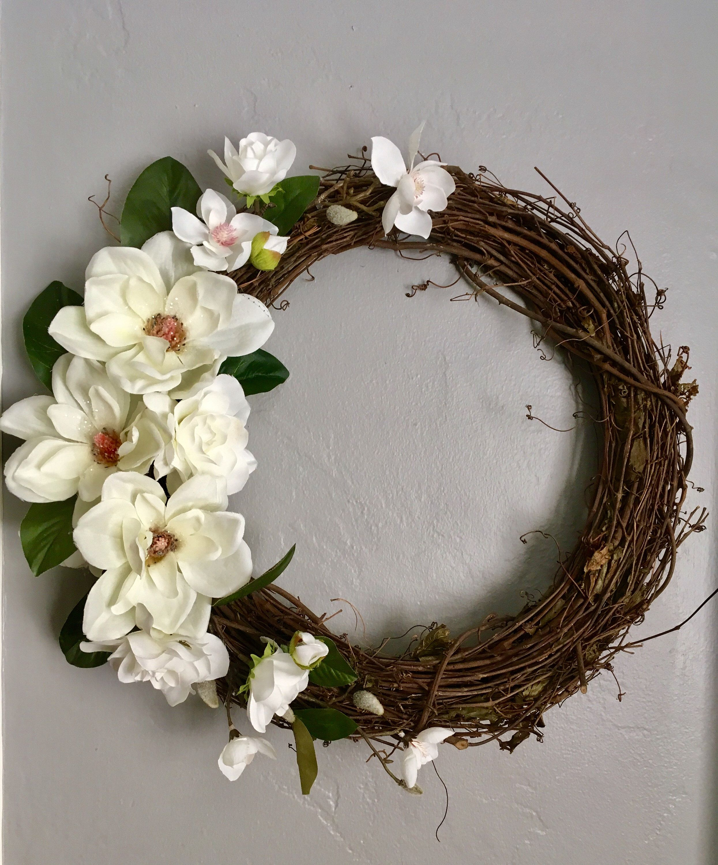 Photo of Magnolia wreath for the front door