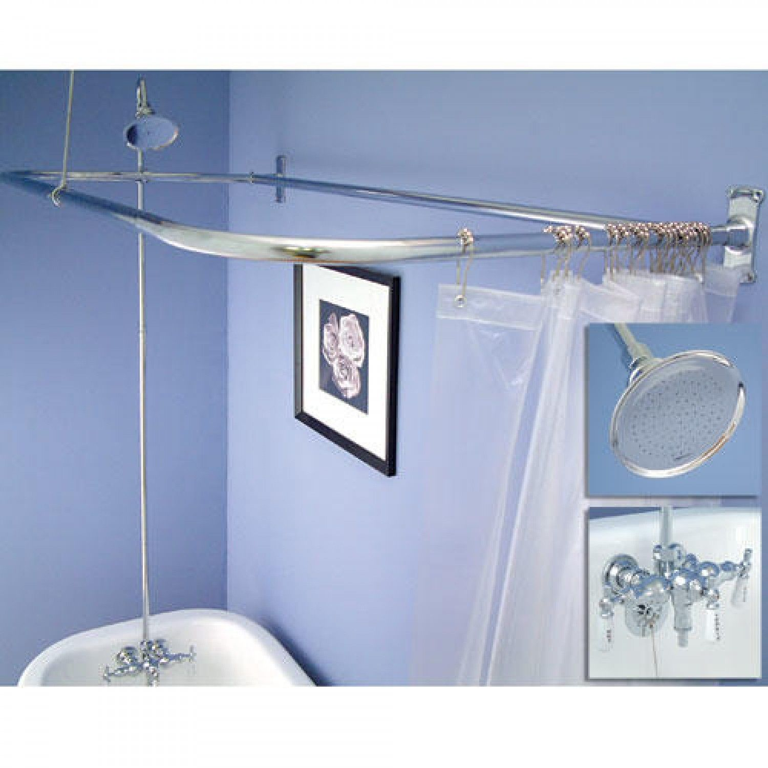 Clawfoot Tub Shower Conversion Kit - D Style Shower Ring   Pinterest ...