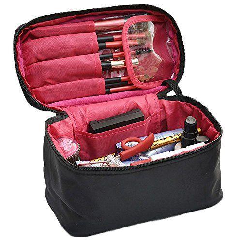 34e2d11c6 Bolso Cosmético Viaje Neceseres Maquillaje Bolsas de Aseo Neceser  Organizador con Asa de Transporte Bolso Tocador
