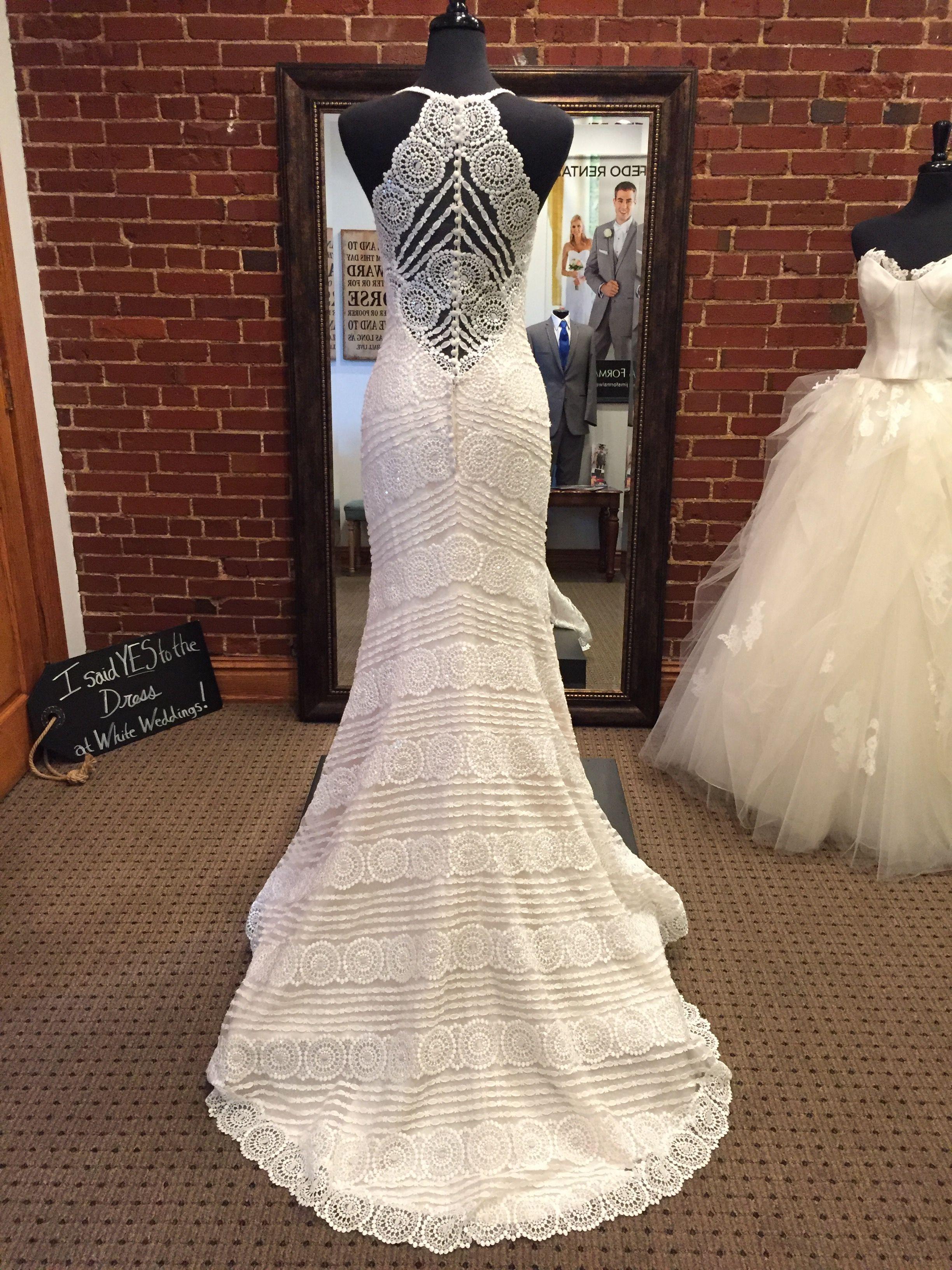 The perfect boho wedding dress bexley features a unique lace design