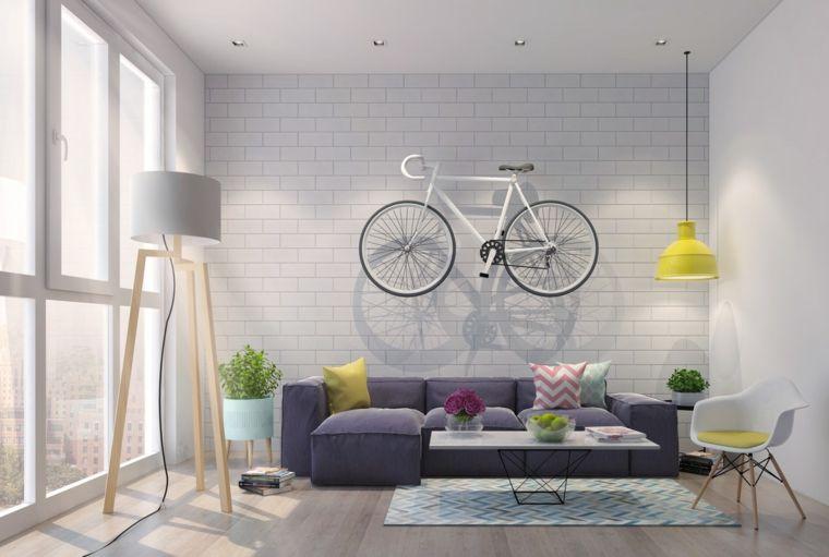 Soggiorni componibili e un39idea di arredamento con divano imbottito
