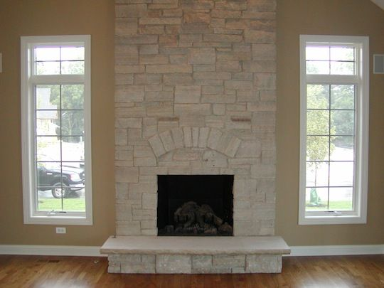 Glen ellyn new stone fireplace fireplaces pinterest for Austin stone fireplace