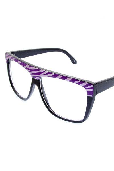 Animal Print Clear Frame Glasses