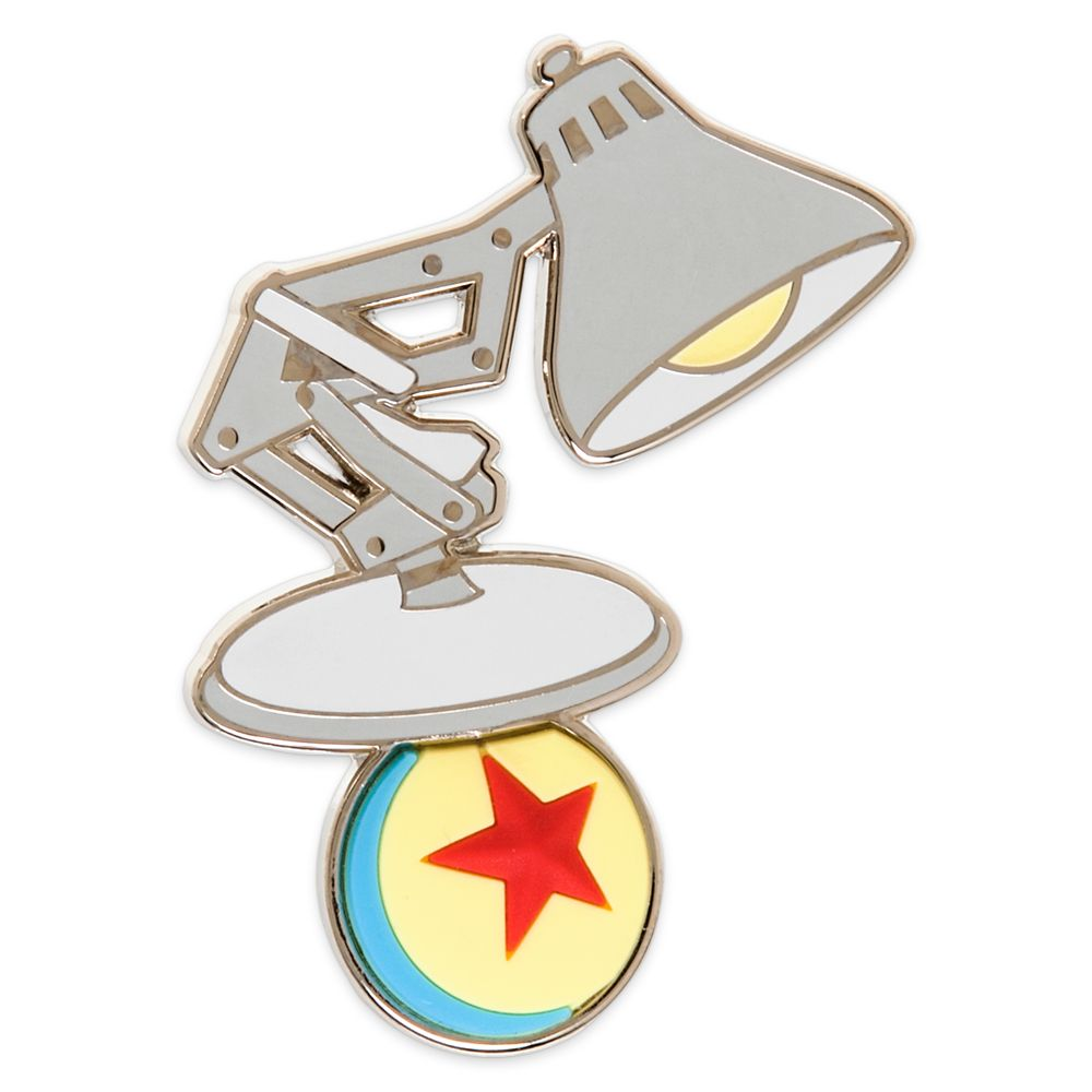 Shine A Light On This Collectible Mascot Pin Featuring Pixar S Iconic Desk Lamp And Pixar Ball That Will Add A Fanciful Flair To Your Pers Pixar Lamp Pixar Pin