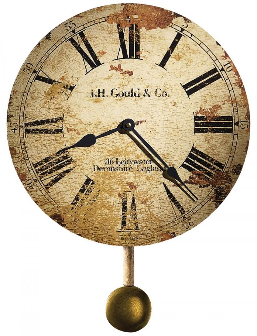 Clockway 13in Howard Miller Deluxe Wall Clock Made In Usa Chm2318 Howard Miller Wall Clock Antique Wall Clock Distressed Wall Clock
