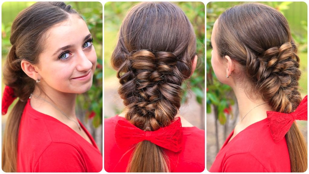 Hairstyles For Prom Cgh : How to create banded puff braid hairstyle #hairstyle