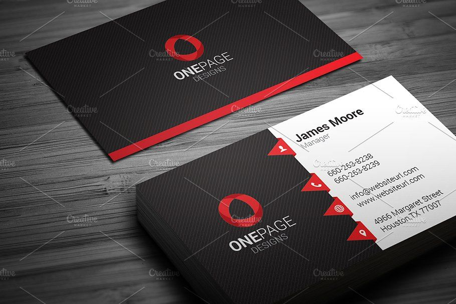 Red Business Card Template Templates