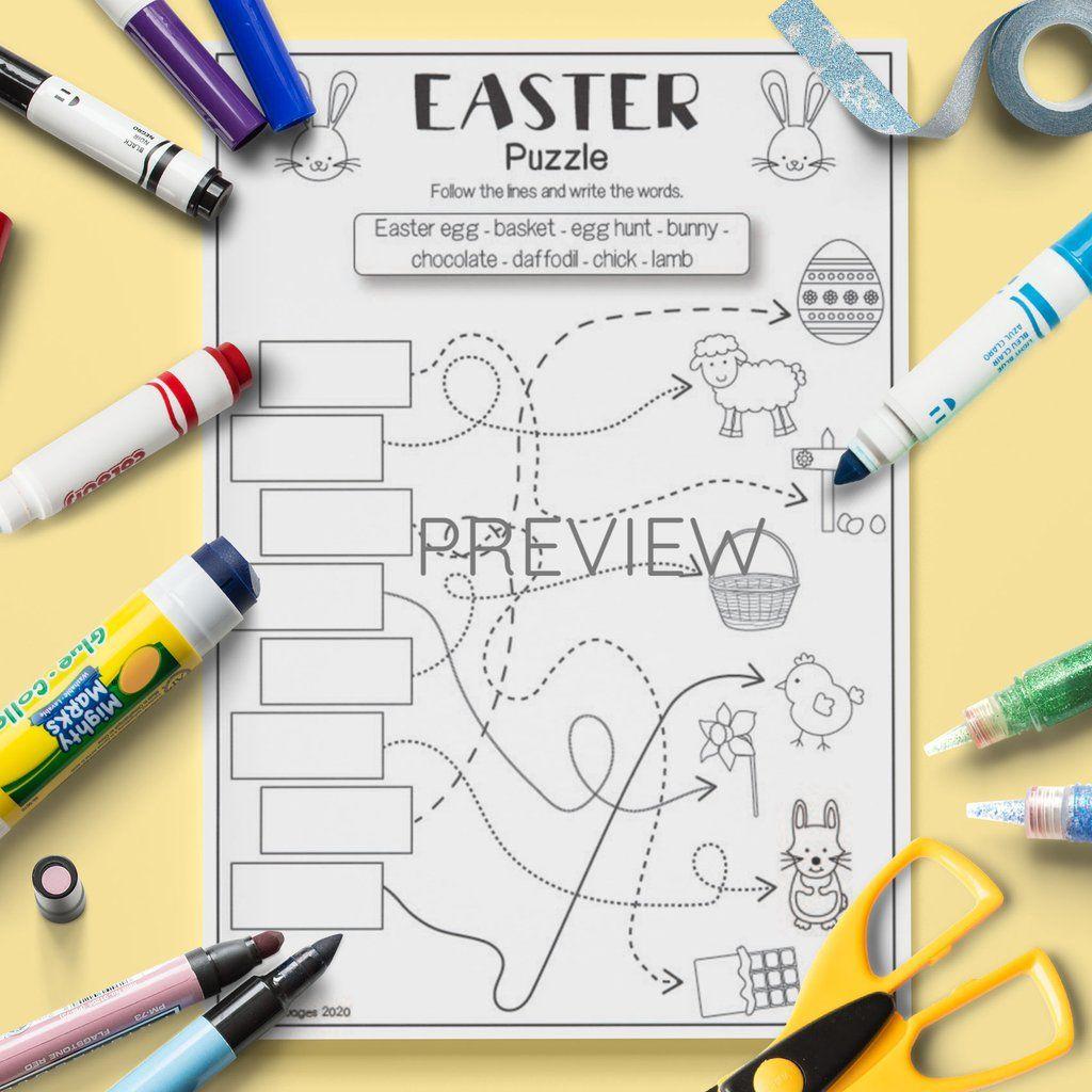 Pin On Esl Kids Easter Activity Worksheets
