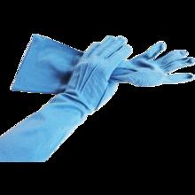 Blue Vintage Gloves Opera Length Cotton 1960's Van Raalte Was $12 - Reduced to $10  http://www.rubylane.com/item/676693-A599/Beautiful-Blue-Vintage-1960s-Van
