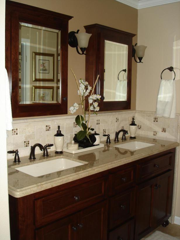 Great Bathroom Backsplash Design Idea Stunning Ceramic Tile Bathroom Backsplash Ideas Wooden Bathroom Vanity With Images Stylish Bathroom