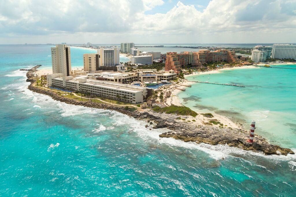 Hyatt Ziva Cancun Is The Only Hotel In Surrounded By Water On Three Sides