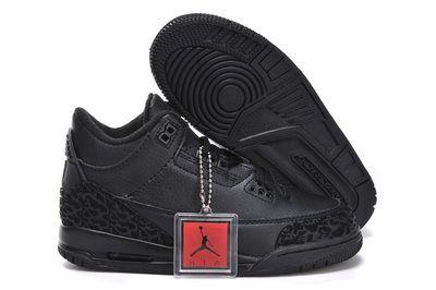 Air Jordan 3 Black Cat Black/Dark Charcoal-Black Kids