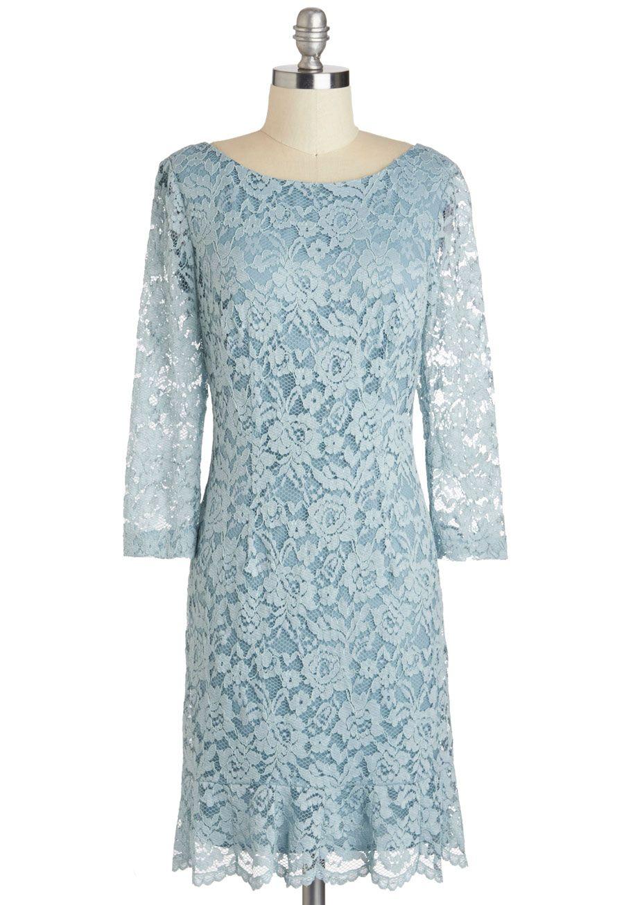 Vintage-Inspired Bridesmaid Dresses Blue Mist