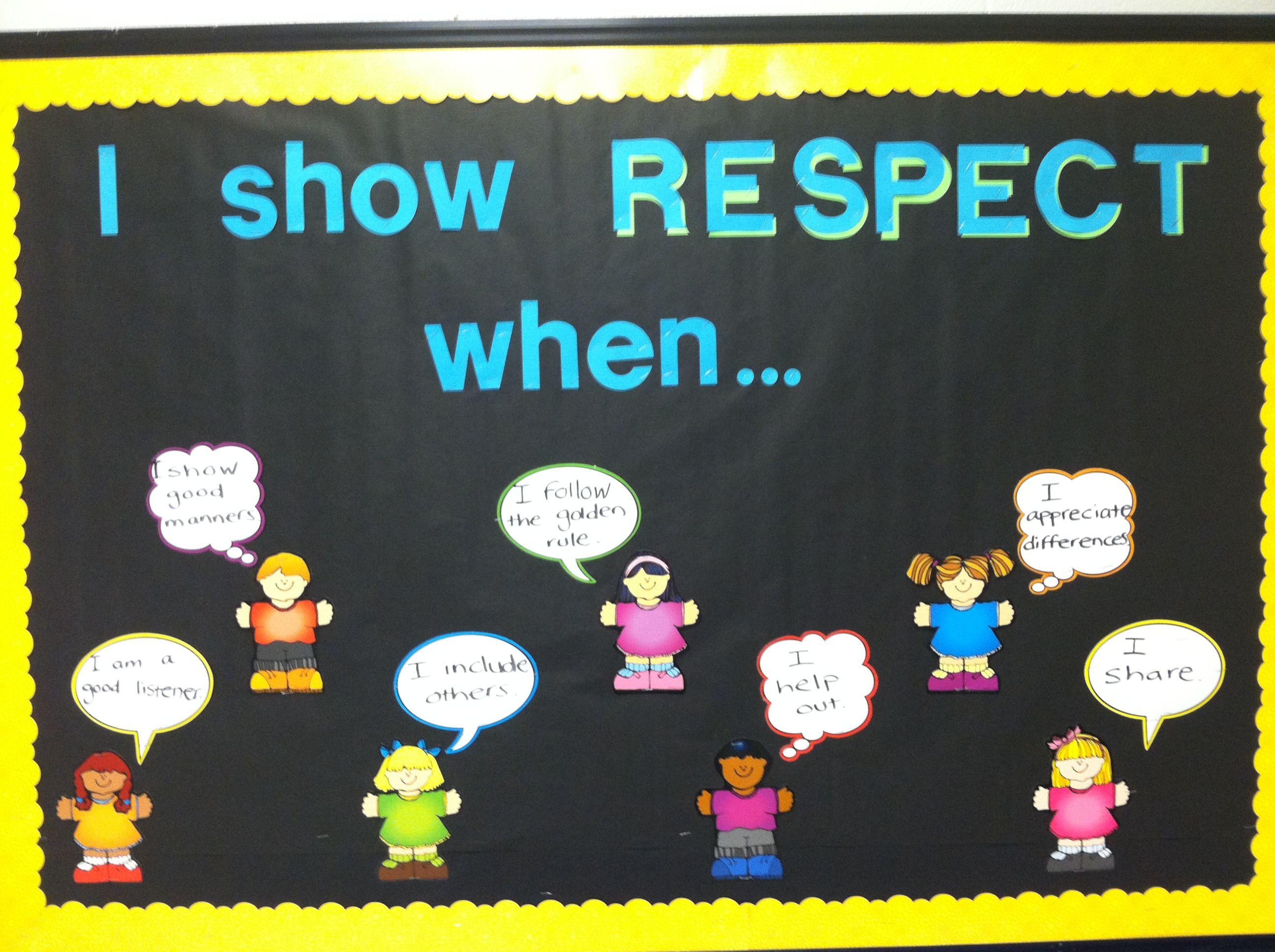 Character Education Bulletin Board-respect Respect