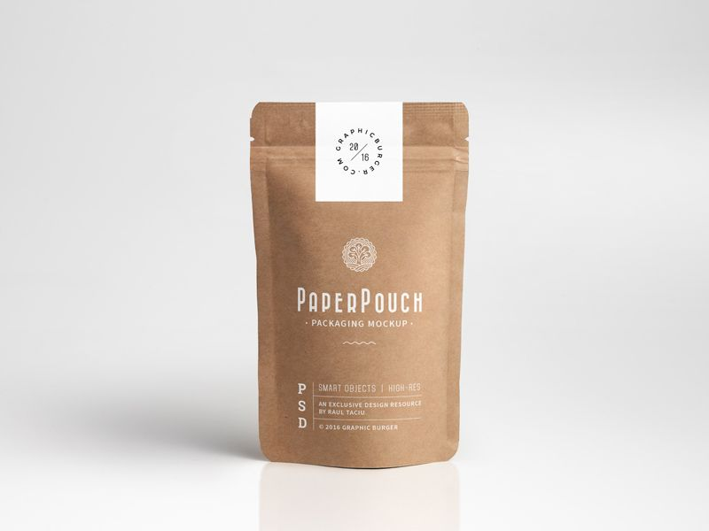 Download Paper Pouch Packaging Mockup Pouch Packaging Paper Pouch Packaging Mockup